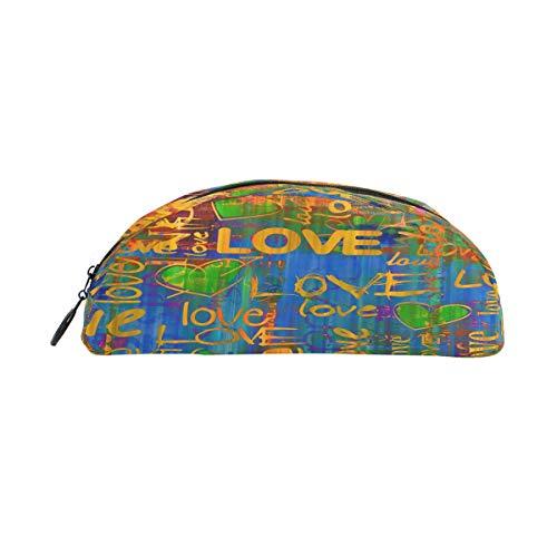 BIGJOKE Estuche para lápices, con diseño de frase, bolsa con cremallera, bolsa para brochas de maquillaje, para niñas, niños, adolescentes, adultos, escuela, estudiantes, suministros de oficina