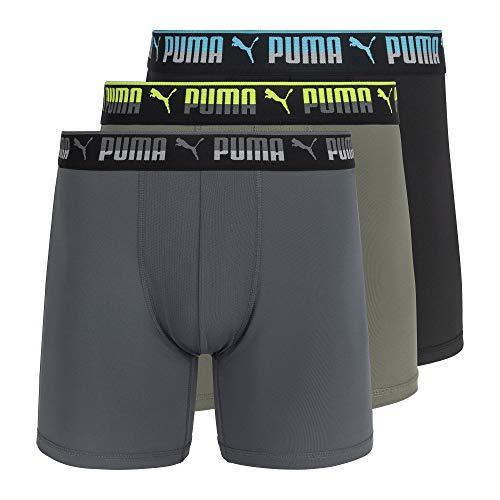 PUMA Herren 3 Pack Training Fit Boxer Briefs Retroshorts, Vetiver, Large