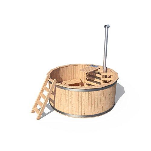 Badezuber Badefass Holz Badetonne 190 oder 240 cm (190 cm) - 3