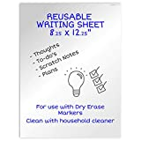Ergon Office Reusable Writing Sheet, 8.25 x 12 inch, Alternative to Desk Whiteboard Planner, Desk Pad, Desk Calendar, Desktop Whiteboard, White Board.