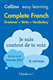 Easy Learning French Complete Grammar, Verbs and Vocabulary (3 books in 1): Trusted