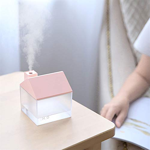 BXzhiri Diffuser Humidifier - Oil Diffuser Aromatherapy Cool USB Mini Humidifier Car Home Silent Mist Humidifier for Home Office Baby