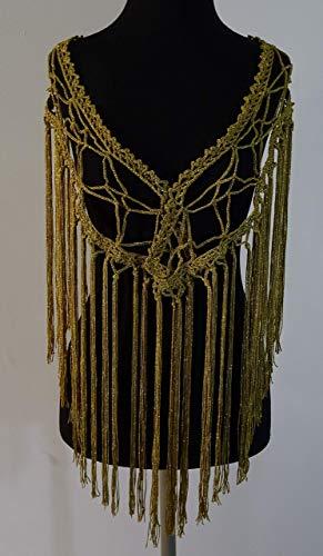 Mantoncillo de Flamenca a Crochet dorado 😎