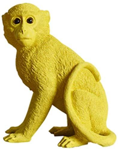 Sunmong Esculturas de Estatua Caja de Dinero de Loro nórdico Mono alcancía Escultura de Animales de Color Regalo Decorativo para niños Hogar Sala de Estar Adornos de Escritorio
