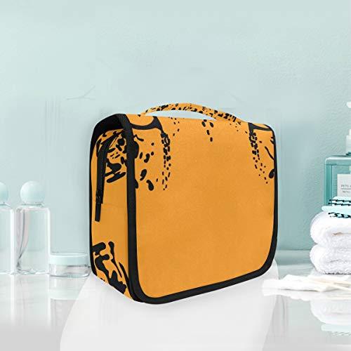 LUPINZ Trousse de toilette de voyage Yeux de léopard Sac de rangement de salle de bain Sac de rangement pour cosmétiques