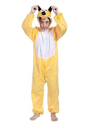 Perro Amarillo Disfraces de Animales Adultos Unisex Pijamas Traje de Disfraces Cosplay Onesies