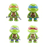 4 Pcs Teenage Mutant Ninja Turtles Cake Topper, PVC Ninja Toys Figures, Dessert Table Decorations for Home Office Collectible Decoration Ornaments Kids Gift.