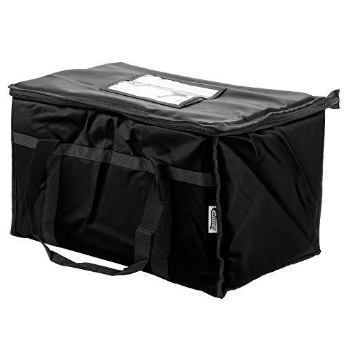 Elección 23'X 13' x 15'Negro con aislamiento bolsa de nylon para entrega de comida/cacerola Portador con microcore térmica caliente o frío Pack Kit