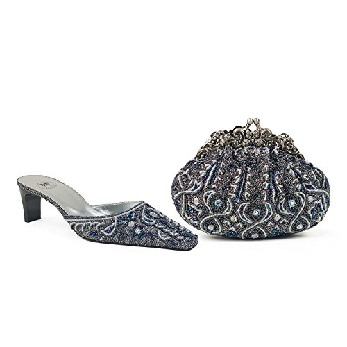Kleine Wolke-Astuccio in coordinato e scarpe, Argento (argento),