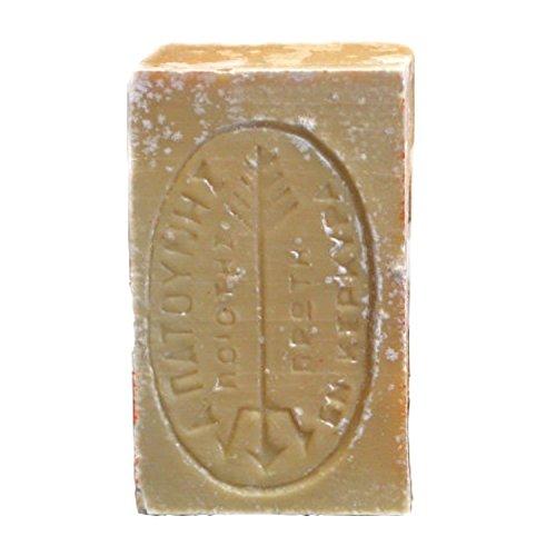 tradoro® Grüne Olivenseife ca. 115gr aus der Seifenmanufaktur Patounis, reine vegane Olivenölseife aus 100% Olivenkernöl, kein Parfum, keine Zusatzstoffe