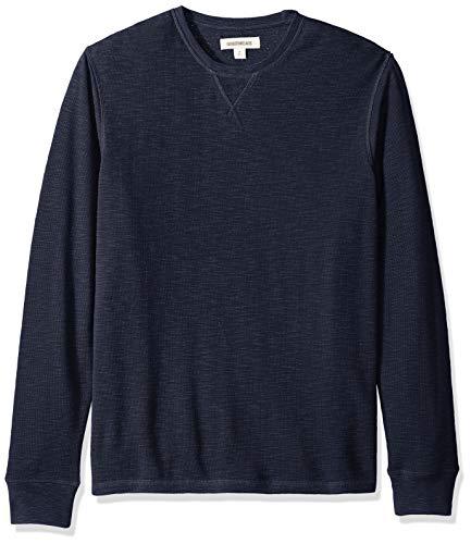 Amazon Brand - Goodthreads Men's Long-Sleeve Slub Thermal Crewneck, Navy, X-Large