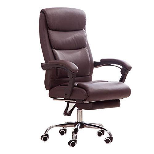 WSDSX Schlafzimmer Home Office Schreibtischstuhl 76 cm Hohe Rückenlehne Doppelschichtdesign Executive Stuhl 170 ° Liegestuhl Multifunktionaler Computerstuhl PU-Kissen Lagergewicht 150 kg