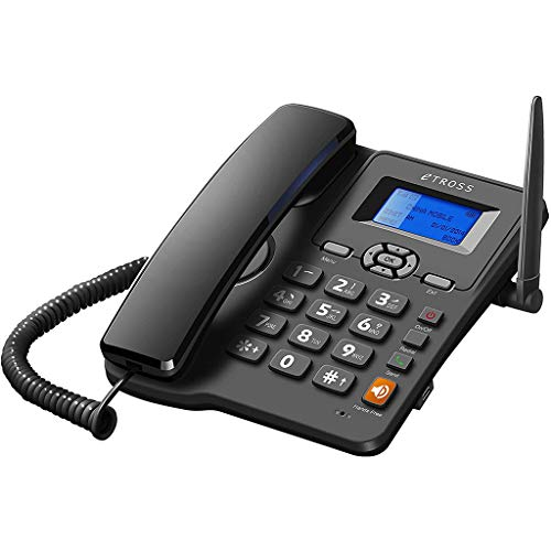 VERDELZ Teléfono De Escritorio - Pantalla LCD Manos Libres Clásico Fijo Teléfono De Escritorio Inalámbrico Teléfono Fijo Soporte De Pared con Radio