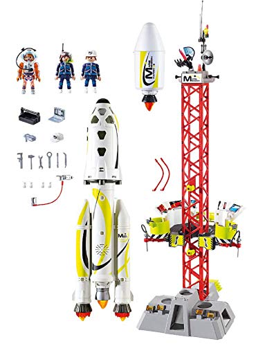 PLAYMOBIL Space 9488 Mars Mission Rocket with launch Site, For children ages 6 +