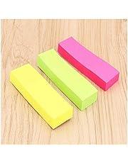 WEIGENG - Bloc de notas autoadhesivo, 3 colores, para marcapáginas, para oficina, escuela, suministros 1pcs Bag