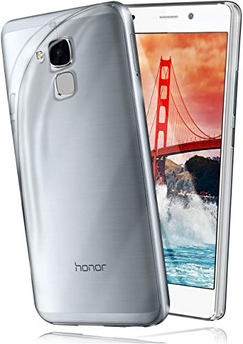 moex Aero Hülle kompatibel mit Huawei Honor 5C - Hülle aus Silikon, komplett transparent, Klarsicht Handy Schutzhülle Ultra dünn, Handyhülle durchsichtig einfarbig, Klar