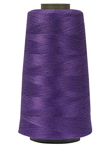 KACHVI Juego de 2 hilos de costura (morado) de grosor 40/2, 3280, 100% poliéster, conos de hilo de coser industriales