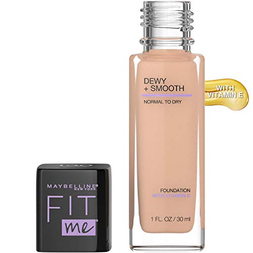 Maybelline New York Fit Me Dewy + Smooth Foundation, Buff Beige, 1 Fl. Oz (Pack of 1) (Packaging May Vary)