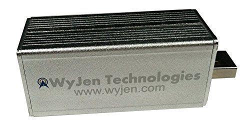 WyJen High Performance Tuning with 0.5 PPM RTL-SDR RTL2832U & R820T /W MCX Antenna, Aluminum Enclosure, Receives ADS-B & FM+DAB/DVB-T Signals (Includes MCX to SMA Adaptor)