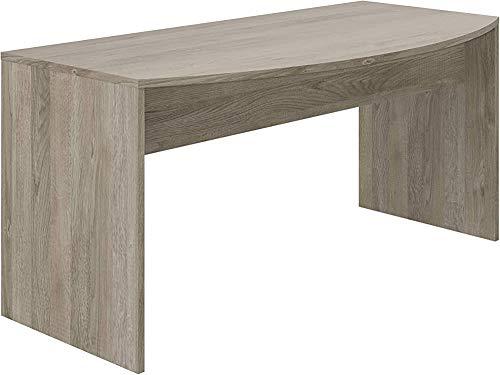 Mate minimalista clásico curvado muebles de oficina de escritorio de arco diseñado para la pequeña oficina, oficina en casa o en el dormitorio, incluso,A