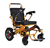 ComfyGO Best Rated Exclusive Deluxe Electric Wheelchair Motorized Fold Foldable Power Wheel Chair, Lightweight Folding Carry Electric Wheelchair, Powerful (Seat Width 19' - Free Travel CASE)