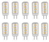 CBconcept UL Listed, G4 LED Light Bulb, 10 Pack, 3 Watt, Dimmable, 330 Lumen, Warm White 3000K, 360 degree Beam Angle, 12 Volt, 35W Equivalent, JC BiPin G4 Halogen Replacement Bulb