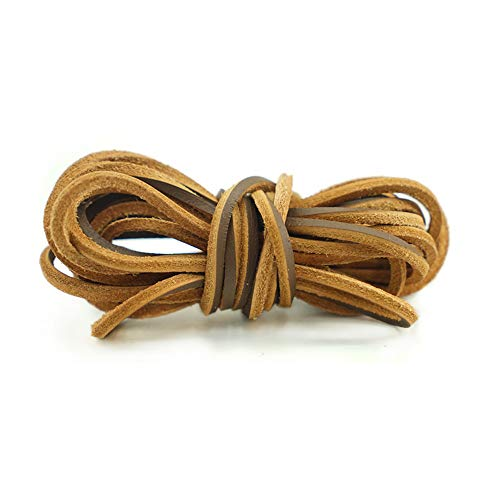 Leather Boot Lace 141 Inches long Shoelaces Cut to Fit all Size and Strength Leather shoelace Cord String for Welders (Brown)