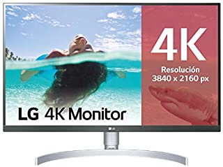 "LG 27UL850-W - Monitor 4K UHD de 68,6 cm (27"") con Panel IPS (3840 x 2160 píxeles, 16:9, 350 cd/m², sRGB >99%, 1000:1, 5 ms, 60 Hz) Color Plata y Blanco (B07MKT1W65) 