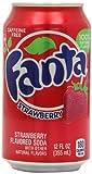 Fanta Refresco sabor de fresa - 12 latas de 355 ml - Total: 4260 ml