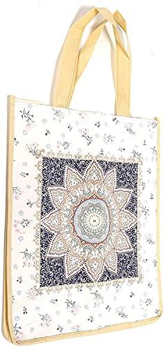 U-K Nice DesignDiamond Painting Tote Bag - Bolsa de la compra con asa
