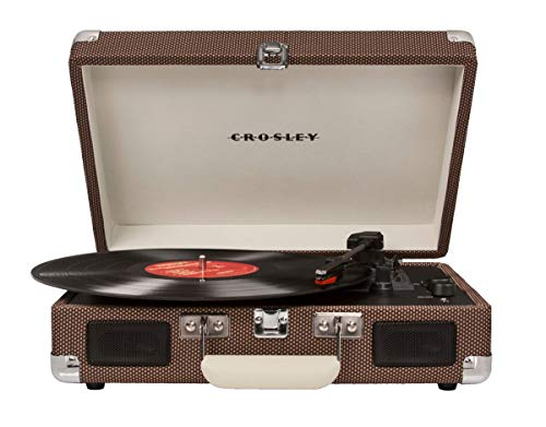 Crosley Cruiser Deluxe Tragbarer Bluetooth Plattenspieler im Retro Design, Tweed