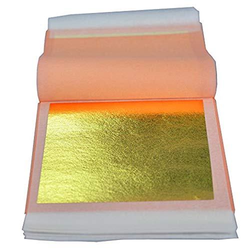 3-1//8 inches Booklet 25 Sheets sim gold leaf Professional Quality Genuine Gold Leaf Sheets 24k, Loose Leaf