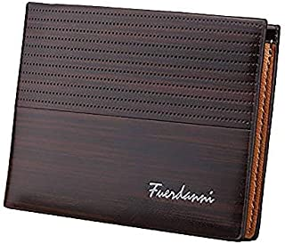 Men's Wallet Brown PU Leather Texture, Coin Box Men's Minimalist, Men's Card Wallet, with Pockets for Credit Cards, Bankno...