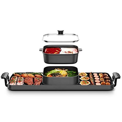 Kyman Smokeless Grill Indoor, Fondue-Topf Trennung, EIN Mehrzweck Barbecue Pan