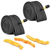 """2 Pack Bike Tube with 3 Tire Levers,?26""""×1.75/1.95/2.10/2.125 Bicycle Inner Tube Tyres Road MTB Bike Interior Tire Tube Anti Puncture Tube for Bike Bicycle Tire (26""""×1.75/2.125)"""