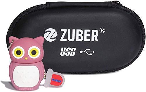 ZUBER® Roze Uil Nieuwigheid USB Flash Drive Key Pen Drive Memory Stick 4GB/8GB/16GB/32GB/64GB/128GB/256GB/1TB/2TB in 2.0, 3.0 & 3.1 Snelle gegevensoverdracht Draagbare kluis betrouwbare Creatieve gegevensopslag USB Geweldig cadeau idee UK, 16GB 3.0