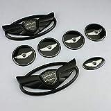 JUNBIE 7PCS black 3D Badge Emblems Front +Rear +Steering Wheels For Hyu-ndai 2010-2015 GENESIS COUPE Car Styling (matte black)