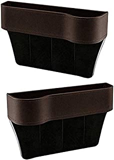 Side Pocket Organizer, Car Organizer Seat Carriage Bag PU Case Pocket Multifunctional Storage Box Brown Right zghzsc (Size...