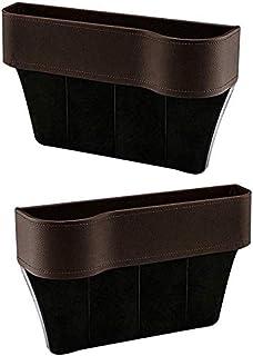 Side Pocket Organizer, Car Organizer Seat Carriage Bag PU Case Pocket Multifunctional Storage Box Brown Right zghzsc (Size...
