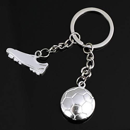 N/ A Tragbare Herrenmode Niedlichen Metallring Schlüssel Schlüsselanhänger Schlüsselanhänger Cool Fußballschuh Niedlichen Schlüsselanhänger