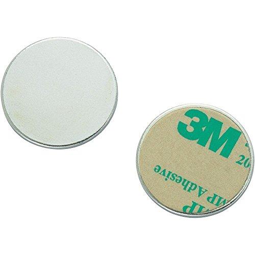 Metallscheiben aus DC01 verzinkt mit Doppelklebeband Ø 40mm x 2mm, Menge:10 Stück