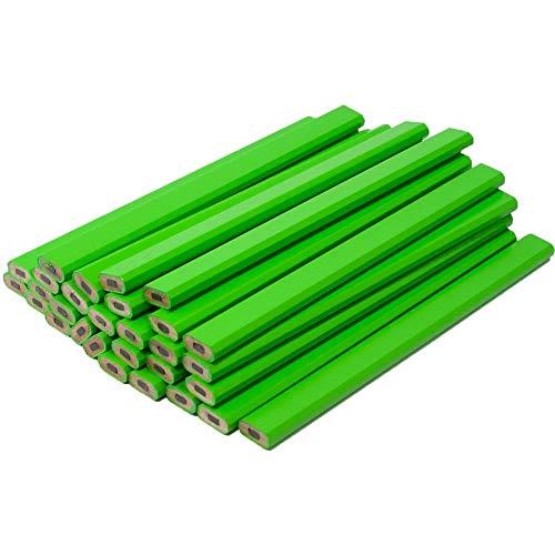 Yellow Carpenter Pencils - 72 Count Bulk Box - Ten Color Choices