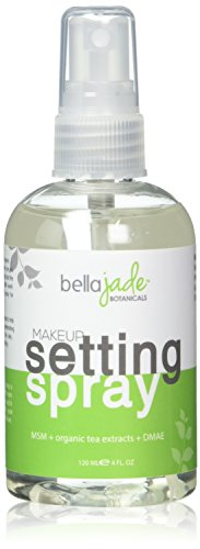 Makeup Setting Spray with Organic Green Tea, MSM and DMAE - A Must for Your Natural Anti Aging Skincare Routine - large 4 ounce bottle (1-Pack)