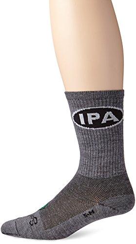 SockGuy Men's IPA Socks, Gray, L/XL