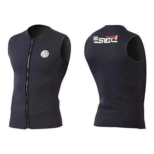 pandawoods Wetsuit top 3mm Thermal Sleeveless Neoprene Vest for Men Women Diving Surfing Swimming Sailing Slimming Sauna Workout