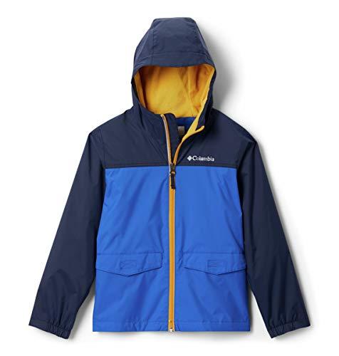 Columbia Boys' Big Rain-Zilla Jacket, Azul/Collegiate Navy, Medium