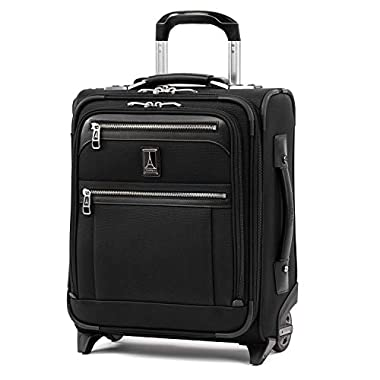 Travelpro Platinum Elite Softside Expandable Upright Luggage, Shadow Black, Carry-On 16-Inch