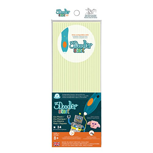 3 Doodler 62122 - Start Plastic Packs, Glow in The Dark