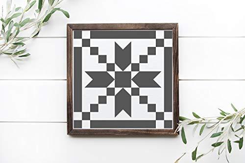 Ced454sy patroon 1 schuur quilt patroon 12x12 ingelijst houten teken rustieke houten bord
