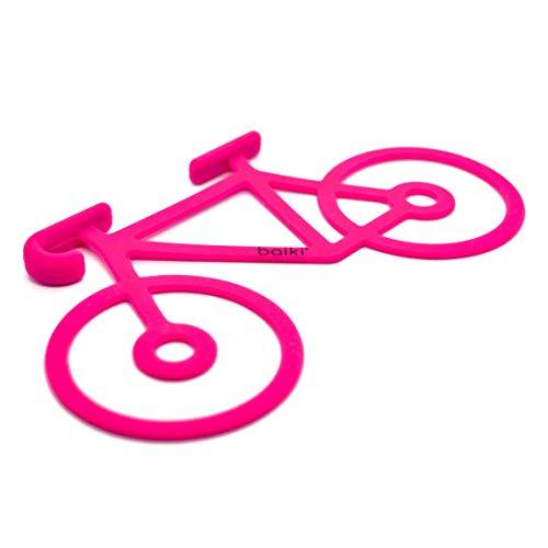 baiki Fahrrad Halterung für Handy/Jacke/Werkzeug, Silikon, Stark, Flexibel, Pink